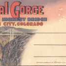Royal George World's Highest bridge- Canon City, Colo. Postcard booklet  (#352)