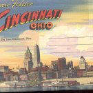 Souvenir Folder of Cincinnati, Ohio  Postcard booklet  (#353)