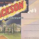 Souvenir folder of Jackson, Mississippi   Postcard booklet   (#362)