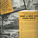 July 1948 Hertz Rent a car      ad  (#4173)