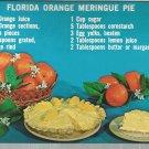 Florida Orange Meringue Pie      Postcard  ( # 381)