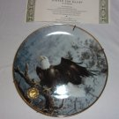 Alaska Chilkat Bald Eagle Preserve- Poised for Glory plate