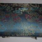 Oriental silk jewelry box with tray
