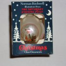 Norman Rockwell Christmas Glass Ornament