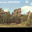 Castle Rock- Greetings from Wisconsin    Postcard (#473)