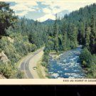 River and Highway in Cascade Mountains  -Pacific Northwest    Postcard (#515)