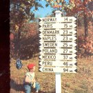 Sign  Post in Maine        Postcard   (# 569)