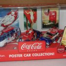 Coca Cola Poster Car Collection - 3 cars- NIB