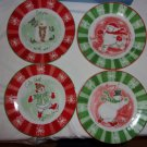 Snowfamily Collection-Set of four Dessert Plates- NIB