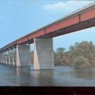 Toledo Bend Country- Pendleton Bridge Connecting Texas & La. Postcard- (# 628)