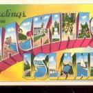 Greetings from Mackinac Island - Michigan   Postcard- (# 638)