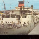 Ocean Freighter passing through Mac arthur Lock- Michigan    Postcard- (# 641)