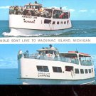 Arnold Boat line to  Mackinac Island - Michigan    Postcard- (# 647)