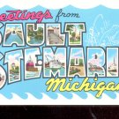 Greetings from Sault Ste. Marie Michigan    Postcard- (# 649)