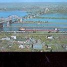 The International Bridge and Soo Locks,  Michigan     Postcard - (# 678)