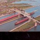 Soo Locks & International Bridge Sault Ste. Marie,   Michigan Postcard (# 685)