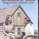 1969 North Dakota official highway map
