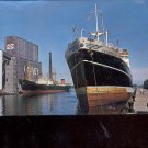 The laCordillera -British Ship loading grain at Duluth     Postcard     (# 707)