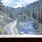 River and Highway in Cascade Mountains     Postcard   (# 730)
