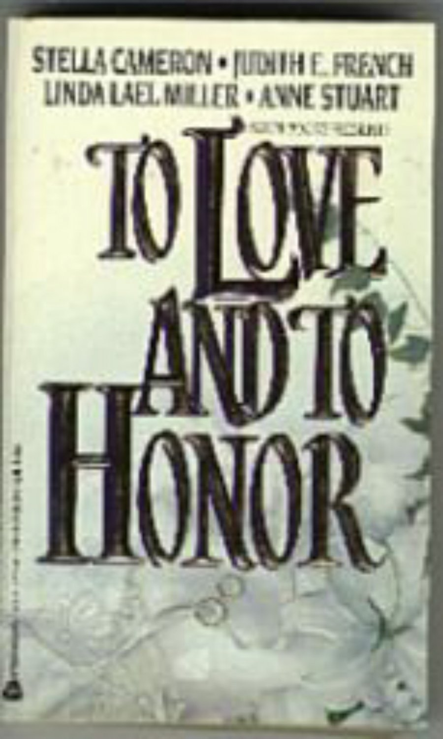 To Love and To Honor- avon books -pb