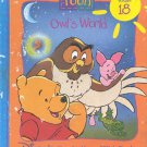 Pooh Owl's World- Disney's out & About with Pooh- HB