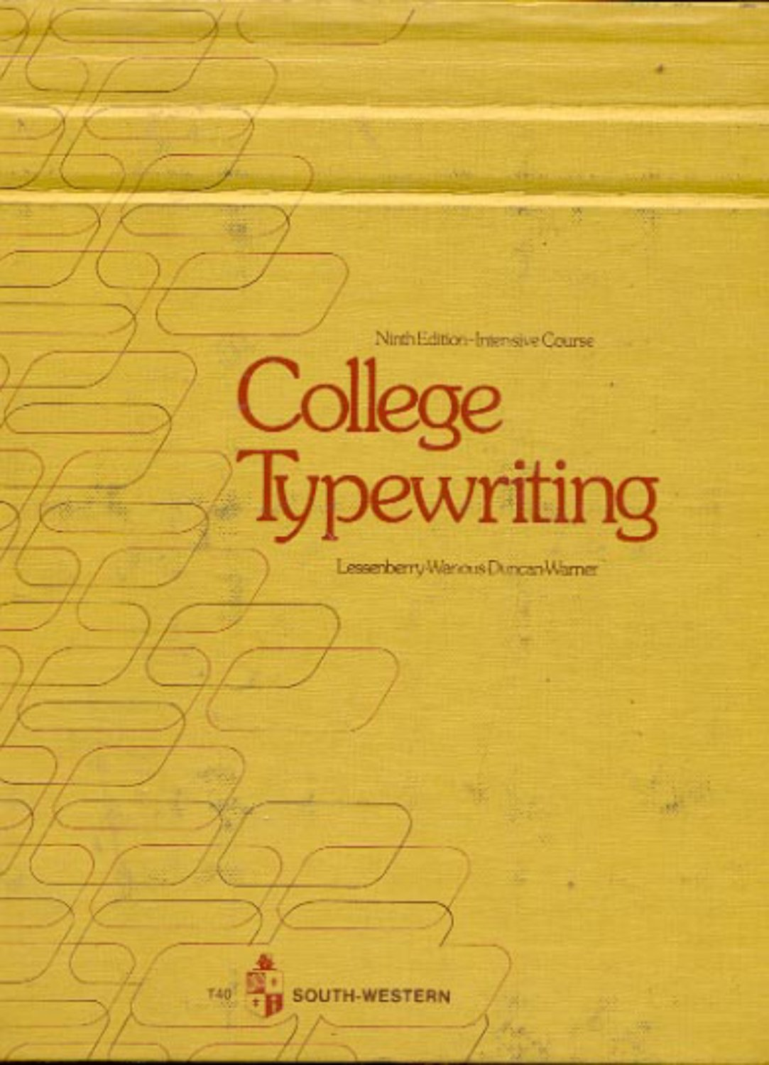 College Typewriting Ninth Edition- Intensive Course c1975