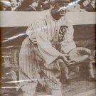 """Ball catcher with mitt print (#1) 11""""x14"""""""