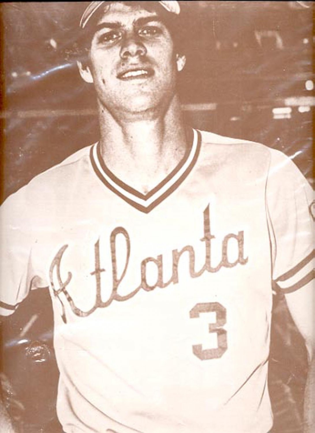 "Ball player with Atlanta 3 on shirt print (#30) 11""x14"""