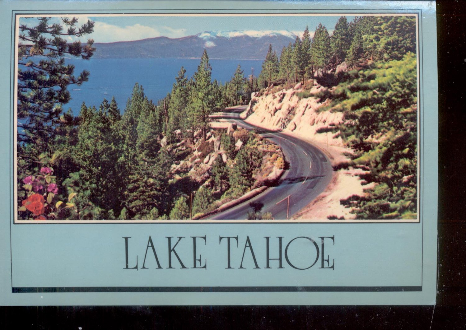 Lake tahoe highway 28 postcard 761 for Lake tahoe jewelry stores