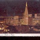 San Francisco Skyline at night   Postcard  (# 774)
