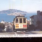 Cable Car, San Francisco Hill & Alcatraz Island     Postcard  (# 777)