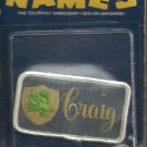 Name embroidery sew on patch- CRAIG -  vintage 1973 (#23)