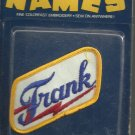 Name embroidery sew on patch- FRANK-  vintage 1973 (#27)