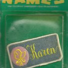 Name embroidery sew on patch- KAREN-  vintage 1973 (#28)