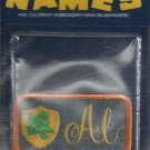 Name embroidery sew on patch- AL -   vintage 1973 (#18)