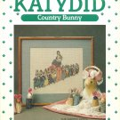 Katydid Country Bunny  pattern  cross stitch leaflet