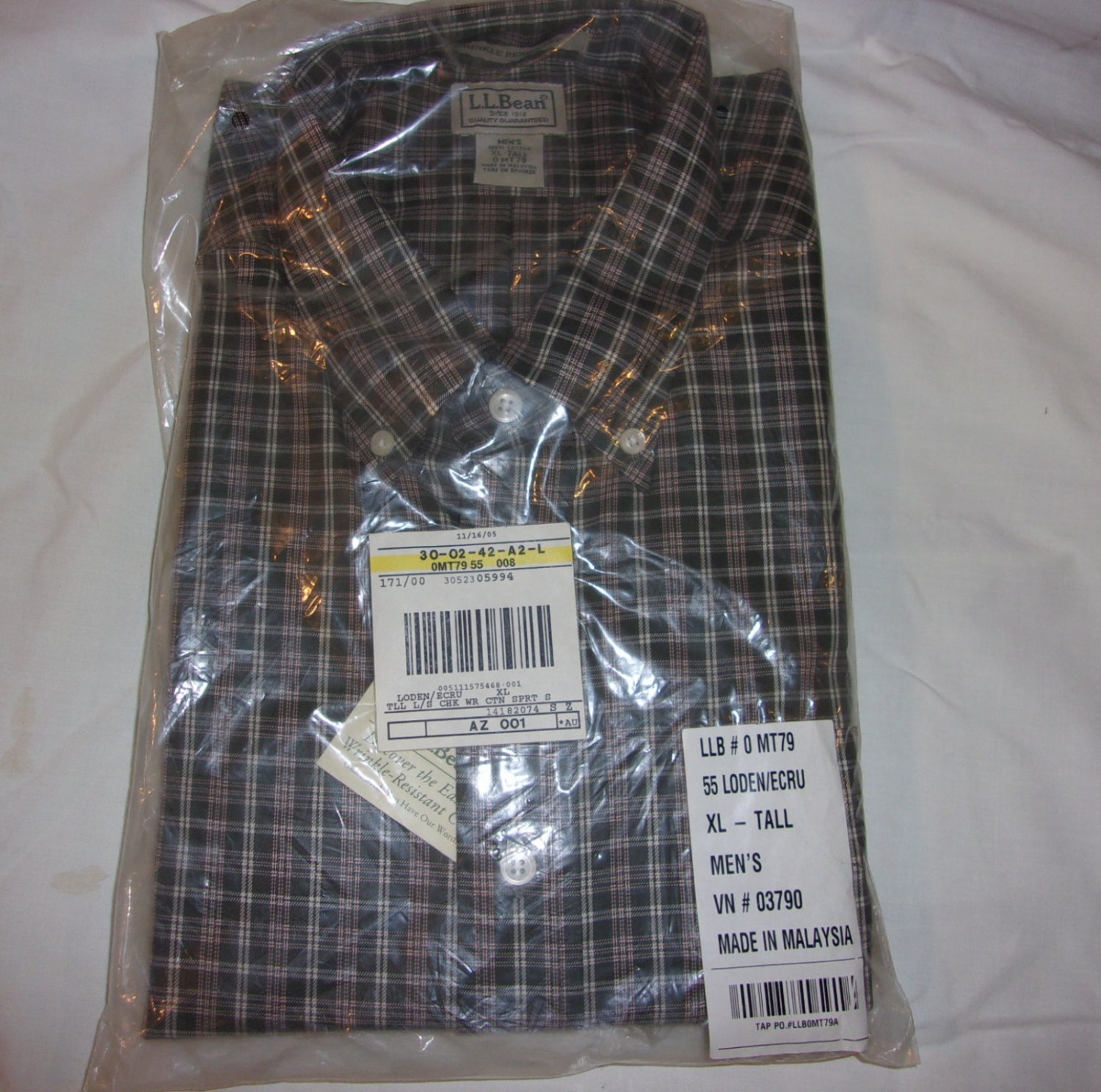 L.L. Bean Shirt- Size XL- Tall