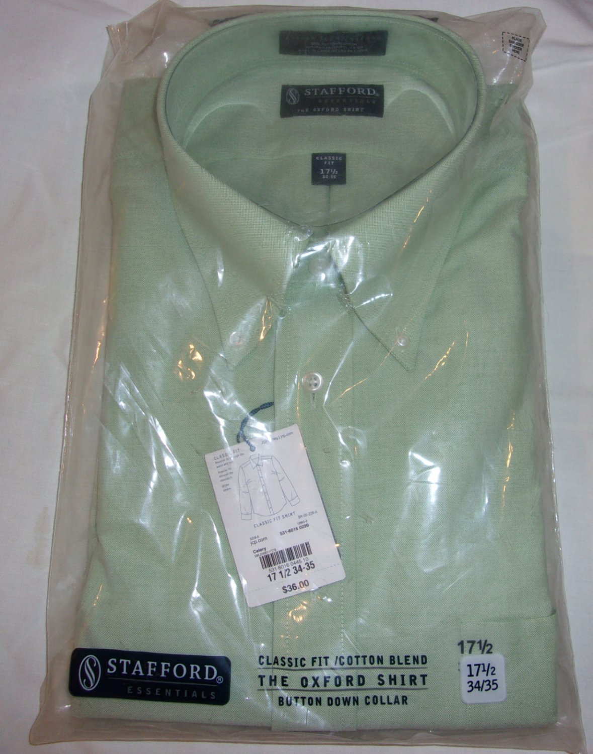 Stafford Shirt- Size 17 1/2 Sleeve 34-35