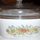 Vintage Corning Wear 5 liter square casserole  dish - with lid  Spice of Life