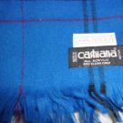 Halston Cashiana Blue Scarf made in France