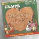 Blue Christmas / Wooden heart- Elvis Presley- 45RPM.