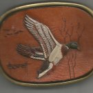 Flying Mallard Solid Brass Belt Buckle- Vintage