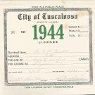 1944 City of Tuscaloosa , Alabama Business License