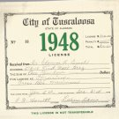 1948 City of Tuscaloosa , Alabama Business License
