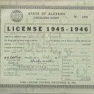 1945-1946   State of Alabama Tuscaloosa County  Business License