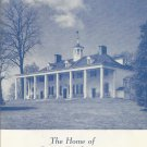 Mount Vernon, Virginia The home of George Washington borchure  1960s