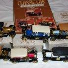 Collector's Set of Classic Car Miniatures - set of 6 diecast replicas- 1989