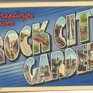 Greetings from Rock City Gardens postcard