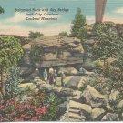 Balanced Rock and Sky Bridge Rock City Gardens Lookout Mountain  postcard
