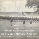 Gulf Coast Military Academy Bulletin Junior Department 1957-1958 Session (damaged)